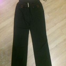 Maternity pants with elastic