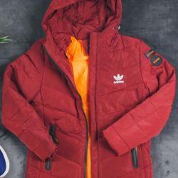 Пуховик Adidas burgundy