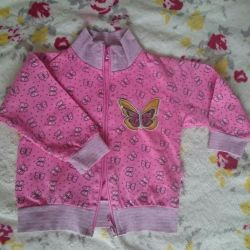 Jumper with a zipper for a girl (86-92)