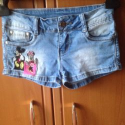 Denim shorts.r.26