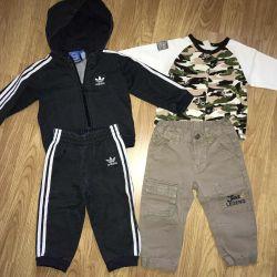 Tracksuit, sweater, windbreaker, pants