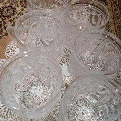 Crystal Cups, 6 pcs
