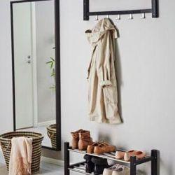 Shoe rack, black, white. Sweden