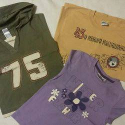 T-shirts with sleeves 7pcs.