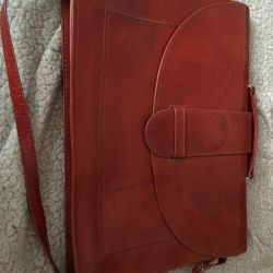 Leather briefcase folder
