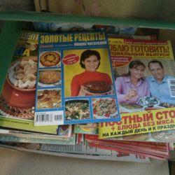 Lots of recipe magazines