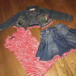 Джинсовая двоика и рубашка