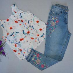 Jeans nou Stoc, dimensiunea 146-152