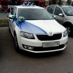 Свадебное украшение на машину прокат аренда