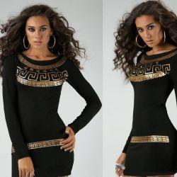 Φόρεμα Tunic μαύρο 163811 μέγεθος S
