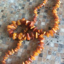 Beads Amber Baltic States Vintage