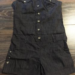 Jeans overalls with shorts