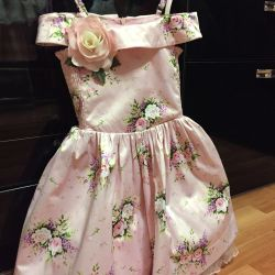 The dress is elegant, magnificent