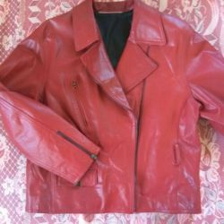 Jacket, genuine leather. 48