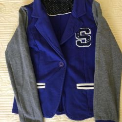 Jacket knitted for the girl