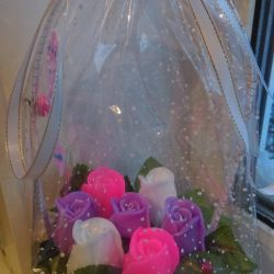 Basket of roses from soap !!!