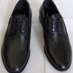 43 Dino Ricci black leather shoes