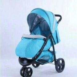 Коляска cool baby kdd-6799z бирюзовый