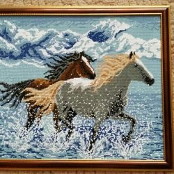 Pictures of beads and diamond embroidery