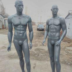 Манекены мужские. Серый цвет