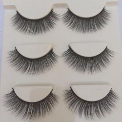 Three pairs of eyelashes