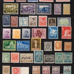 Collection of old stamps. Clean