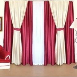 Set of curtains 4 season burgundy 250cm