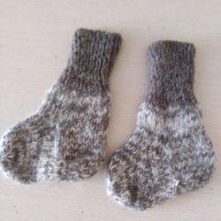 Socks knitted wool + down