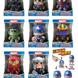 Figures of Marvel's characters change facial expression