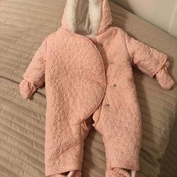 0-3 aylık bebekler için yeni tulum ve şapka