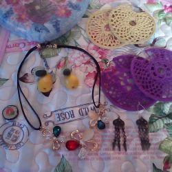 Earrings, Necklace, Pendant