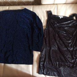 Μπλούζα πουκάμισο 52-54 νέο κομψό βράδυ