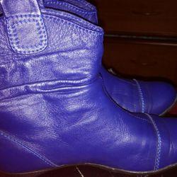 Μπότες αστράγαλο δέρμα