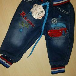 Bir erkek için kot pantolon 0,5, 1, 2, 3, 4 yıl