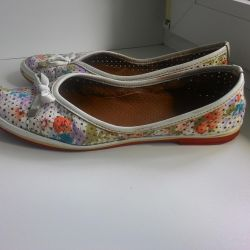 Summer leather shoes, ballet shoes, moccasins