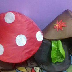 Costumes - mushroom caps