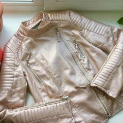Куртка металлик эко кожа