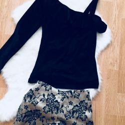 Velvet blouse, shorts