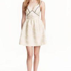 Новое платье h&m из жаккардовой ткани