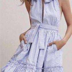 Φόρεμα με μια ζώνη καλοκαίρι νέο