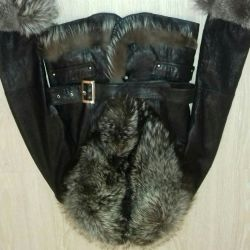 Leather jacket (sheepskin coat) 44-46