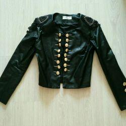 Jacket 42/44 black leather female