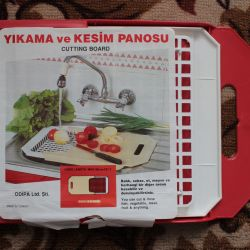Sliding tray for washing / cutting fruits / vegetables