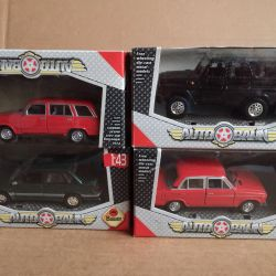 1/43 scale models in boxes