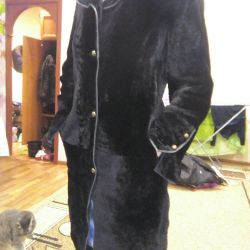 Sheared Mouton fur coat