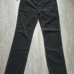 Новые мужские вельветовые брюки castromen р. 34
