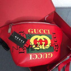 Kemerde Gucci Kırmızı Çanta