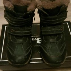 Winter boots, natur. leather and fur, 33r