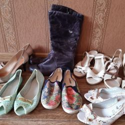 NEW and used shoes