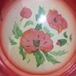 Тарелка металлическая с росписью СССР